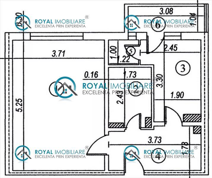 Royal Imobiliare   apartament 1 camera de vanzare in Ploiesti, zona Cantacuzino