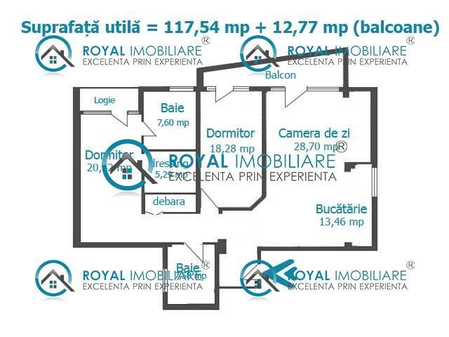 Royal Imobiliare  Apartament bloc nou, loc de parcare inclus!