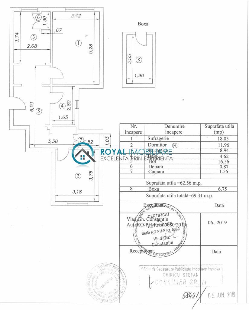 Royal Imobiliare   Vanzare Apartament 2 camere Ultracentral