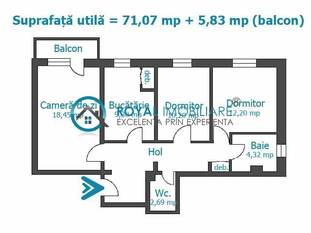 Royal Imobiliare  Vanzari Apartamente zona Malu Rosu