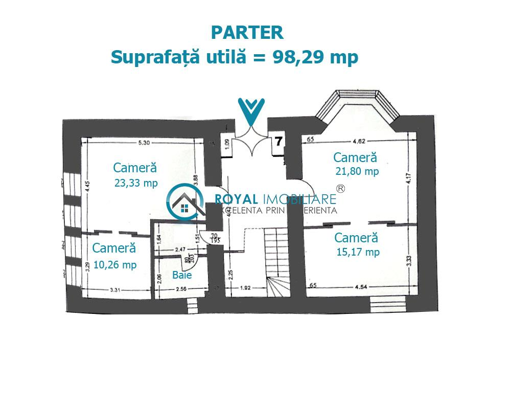 Royal Imobiliare   vanzare vila Ultracentrala