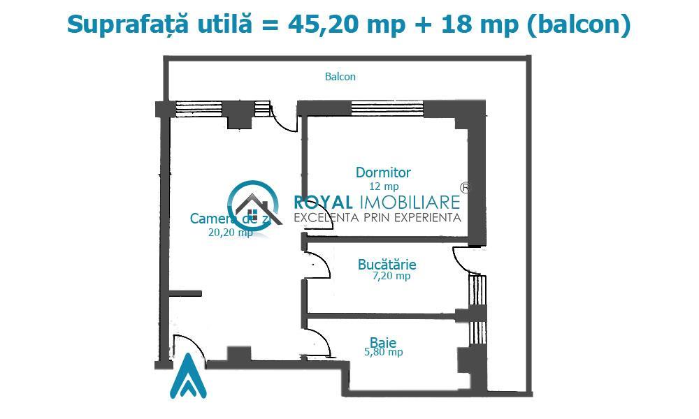 Royal Imobiliare   Vanzari apartamente noi  zona 9 Mai