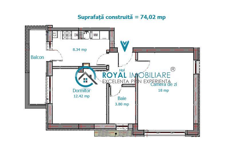 Royal Imobiliare   Vanzari apartamente noi zona Malu Rosu