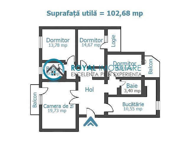 Royal Imobiliare  vanzari apartamente 4 camere zona Centrala