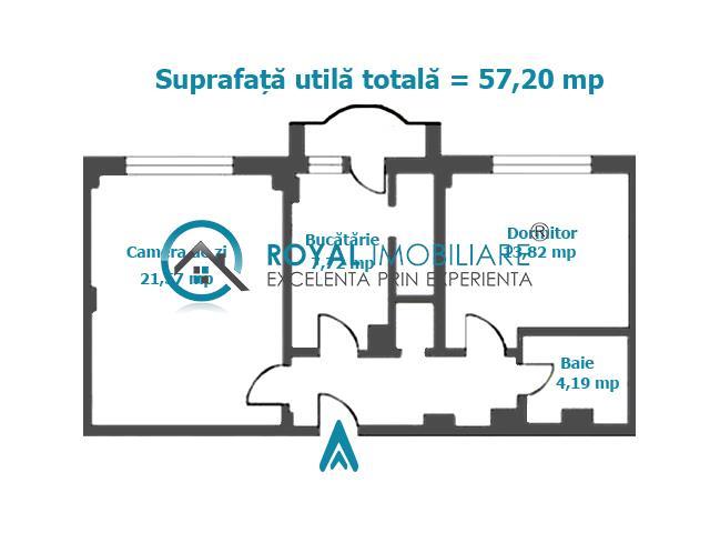 Royal Imobiliare   2 camere zona Ultracentral