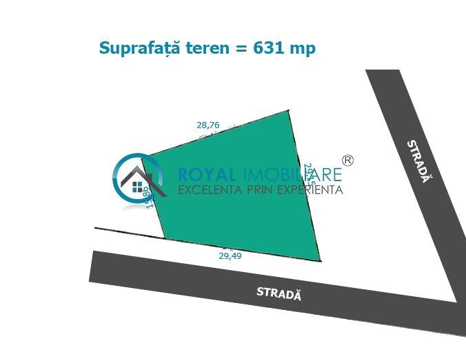 Royal Imobiliare   Vanzare teren intravilan zona Centrala