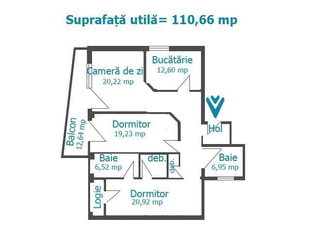 Royal Imobiliare   apartament 3 camere de vanzare in Ploiesti, zona Albert