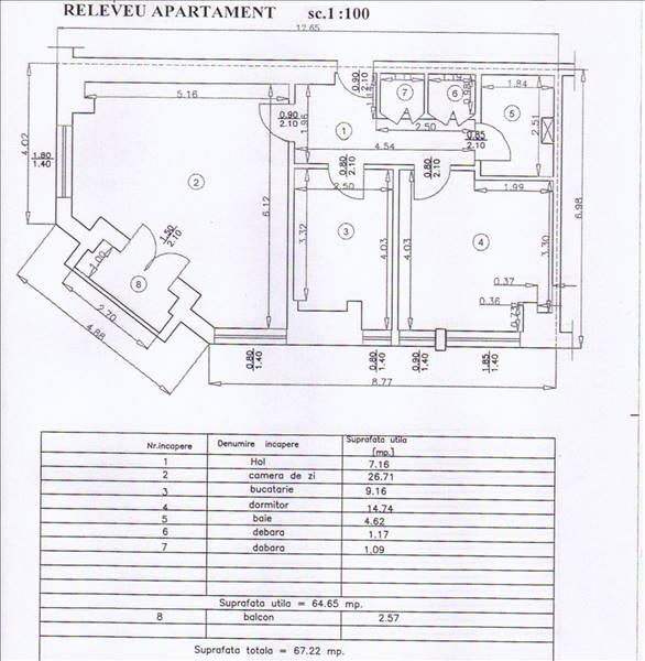 Royal Imobiliare - apartament 2 camere de vanzare in Ploiesti, zona Ultracentral