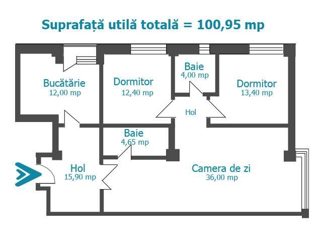 Royal Imobiliare   vanzari apartamente, bloc nou