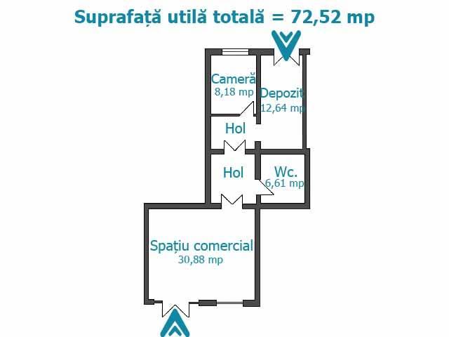 Royal Imobiliare   spatiu comercial de inchiriat in Ploiesti, zona Republicii