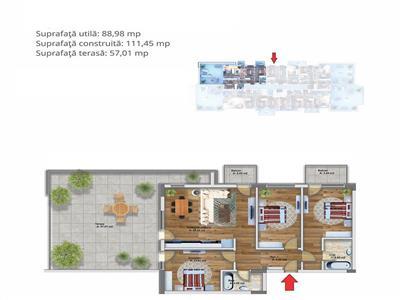 Royal Imobiliare - 4 camere zona Albert