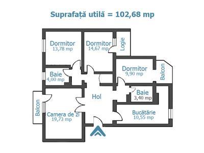 Royal Imobiliare- vanzari apartamente 4 camere zona Centrala
