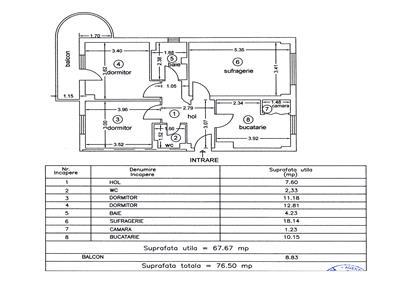 Royal Imobiliare - apartament 3 camere de vanzare in Ploiesti, zona Ultracentral