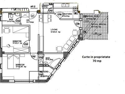Royal Imobiliare - Vanzare apartament 3 camere cu curte proprie Ultracentral