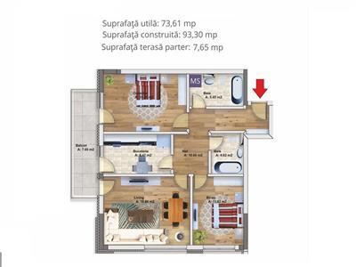 Royal Imobiliare   3 camere,bloc nou zona Albert