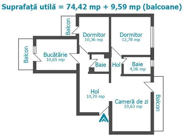 Royal Imobiliare - vanzari apartamente 3 camere, zona Marasesti